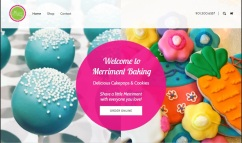 Merriment Baking website